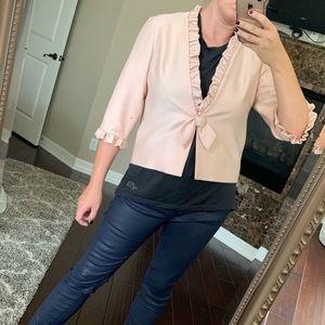 Vintage handmade salmon pink light jacket med